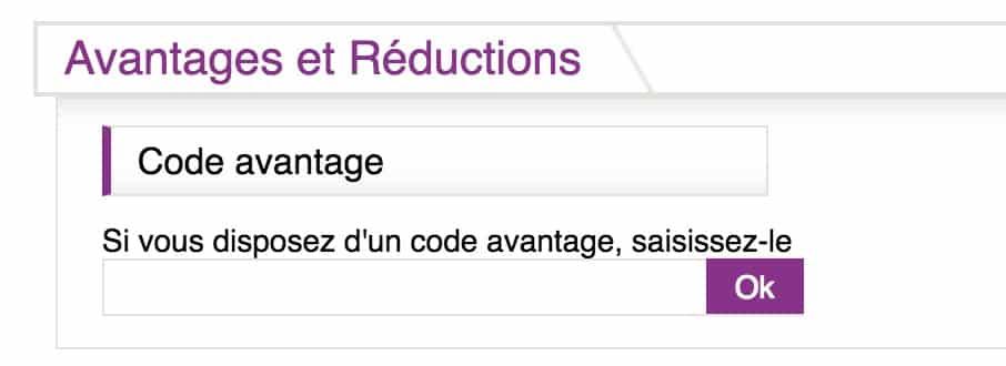 code avantage ResidHotel