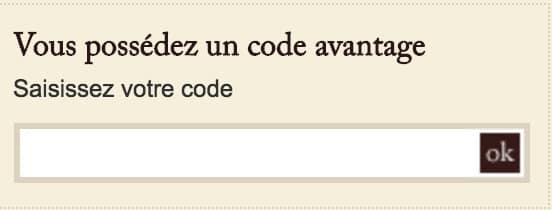 code avantage comptoir richard