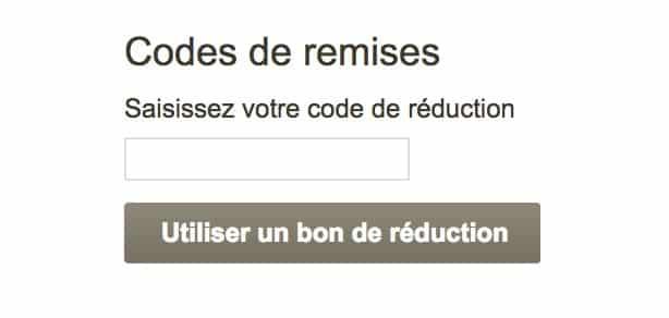 code de reduction chemin de table