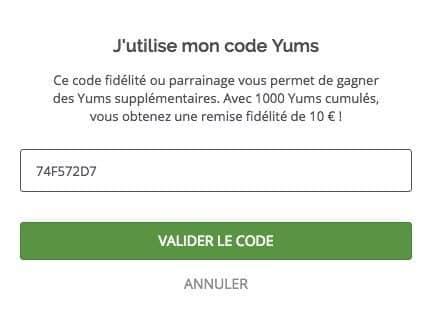 code parrainage lafourchette