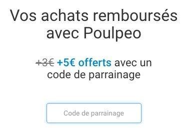 code parrainage poulpéo