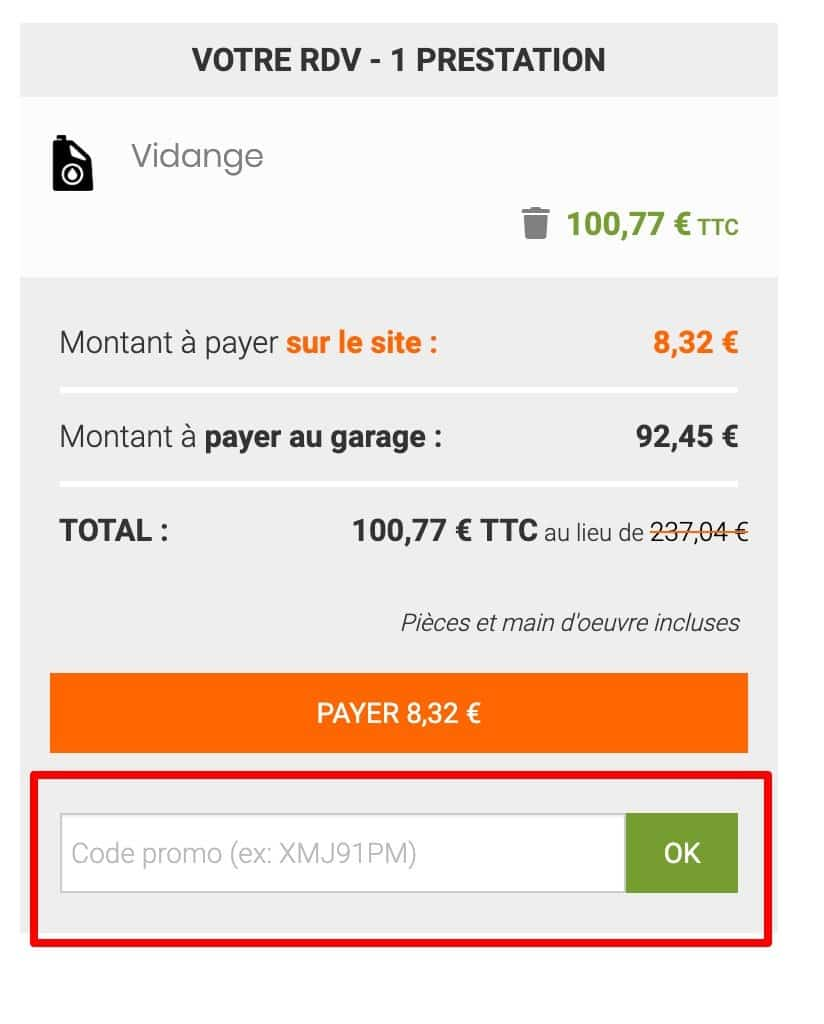 code promotionnel iDGARAGES.com